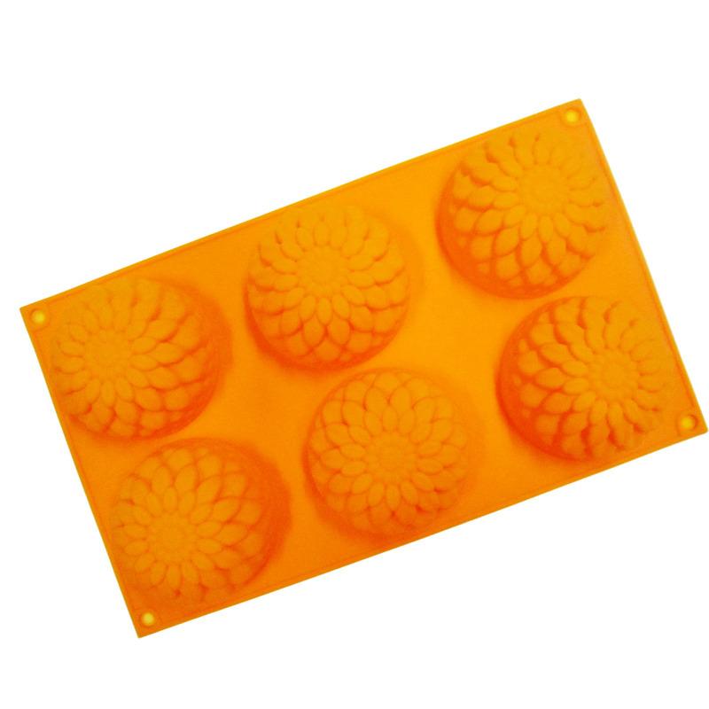 六連菊花矽膠模