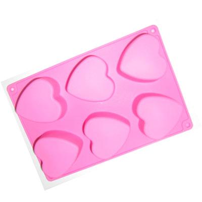愛心6孔矽膠模
